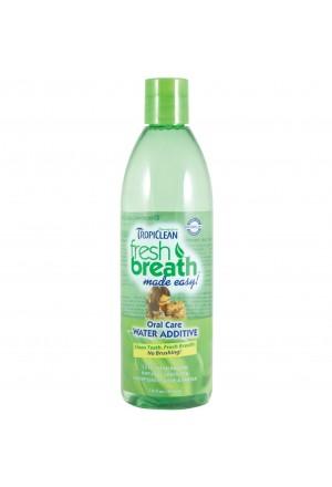 Tropiclean Fresh Breath жидкая зубная щетка Свежее Дыхание для кошек и собак 473 мл