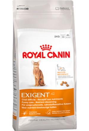 Корм Роял Канин экзиджент сэйвор протеин для взрослых кошек, привередливых к составу продукта.