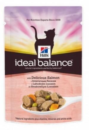 Паучи Хиллс Идеальный баланс для взрослых кошек с лососем и овощами.