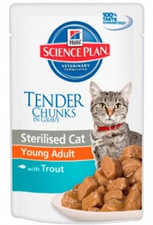Влажный корм хиллс для взрослых кошек и котов для профилактики избыточного веса.
