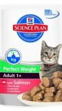 """Паучи для взрослых кошек """"Идеальный вес"""" с лососем, , 88 р., Кошки, Хиллс, Хилс"""