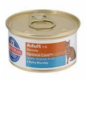 Влажный корм хиллс оптимал кеа для взрослых кошек с рыбой
