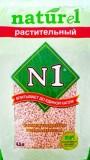 Комкующийся растительный наполнитель N1, 4,5л, , 375 р., Кошки, , Наполнитель-N1