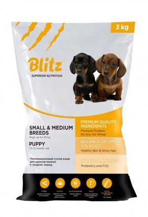Корм Блиц Blitz для щенков мелких и средних пород