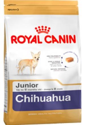 Корм Роял Канин для щенков чихуахуа в возрасте от 2х до 8 месяцев.