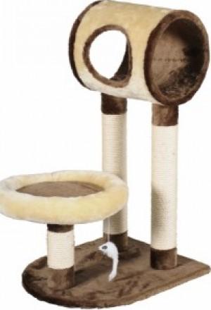 Игровой комплекс для кошек: цилиндр на двух когтеточках, лежак и игрушка