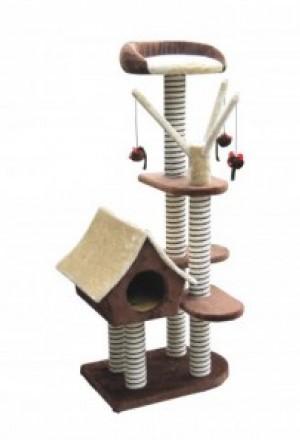 Купить игровую площадку для кошек в Краснодаре: 4 уровня, избушка-домик, и 4 яруса