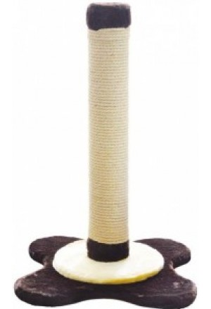 """Устойчивая и долгоиграющая когтеточка-столбик для кошек с основанием """"Цветок"""""""