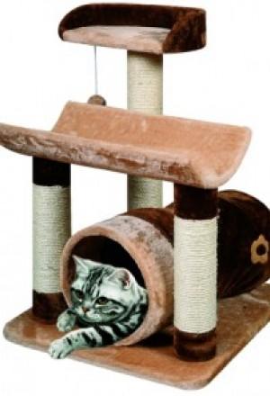 Домик-комплекс для кошек с цилиндром и игрушкой, и двумя лежанками