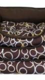 "Лежанка ""Фэшн 1"" коричневая, , 1 138 р., Кошки Собаки, Барсик, Когтеточки, лежаки"