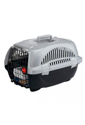 Пластиковая комфортная переноска с поилкой и ковриком для кошек и маленьких собак