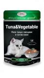 Джина паучи для кошек (тунец&овощи), , 68 р., Кошки, Gina, Джина