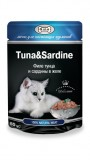 Джина паучи для кошек (тунец с сардинами желе), , 68 р., Кошки, Gina, Джина