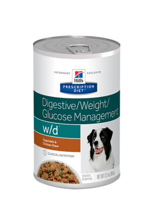 Консервы Hills w/d для собак при сахарном диабете, запорах, колитах