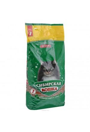 Наполнитель Сибирская кошка Лесной супервпитывающий для кошек