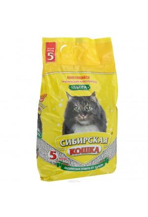 Купить комкующийся наполнитель сибирская кошка ультра в Краснодаре