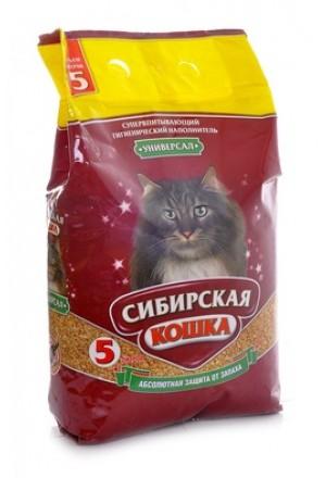 Купить впитывающий наполнитель Сибирская кошка Универсал в Краснодаре