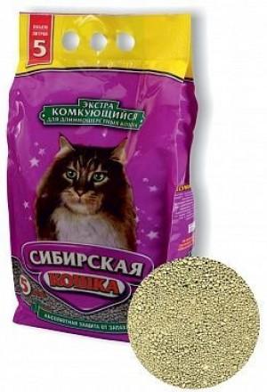 Купить комкующийся наполнитель Сибирская кошка Экстра в Краснодаре