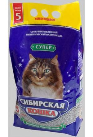 Купить комкующийся наполнитель Сибирская кошка Супер в Краснодаре
