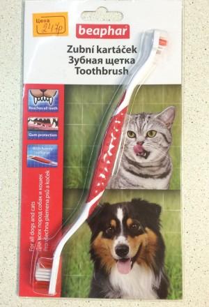 Зубная щетка Беафар для чистки зубов у кошек/собак